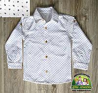 Белая праздничная рубашка для мальчика , фото 1