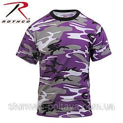 Футболка   мужская   камуфляж     Violet  Camo T-Shirts поликотон 60/40  ROTCHO США