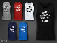 Модная спортивная мужская летняя майка молодежная анти социал клаб Anti Social Social Club