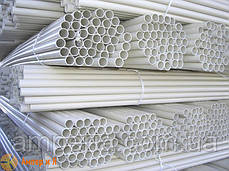 Труба ПВХ жёсткая гладкая д.50мм, Light, 3м, цвет серый, фото 2