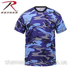 Футболка   мужская  камуфляж     Electric Blue Camo T-Shirts поликотон 60/40 ROTCHO  США