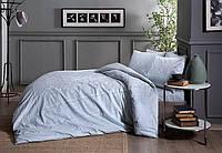 Постельное белье Tac сатин Fabian ментоловое двухспального евро размера