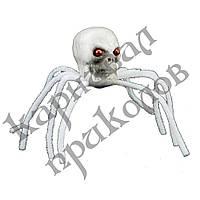 Декор Паук-череп (белый)