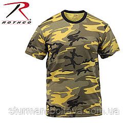 Футболка мужская   камуфляж -   Stinger Yellow Camo T-Shirts  поликотон 60/40 ROTCHO США