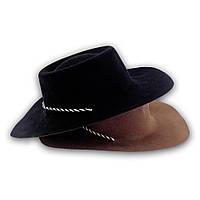 Шляпа детская Ковбой флок (коричневая)