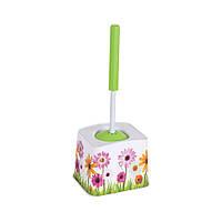 Щетка для унитаза с деколью Полевые цветы Elif plastik 388-5LF