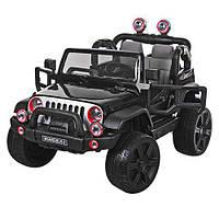 Детский электромобиль JEEP M 3469 EBLR-2: 9 км/ч, кожа, EVA, 2.4G - ЧЕРНЫЙ - купить оптом, фото 1
