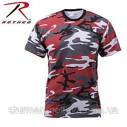 Футболка  мужская камуфляж   Red  Camo T-Shirts  Mil-Tec  хлопок  100% Mil-Tec  Германия