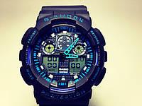 Спортивные чёрные наручные часы Casio G Shock | топ