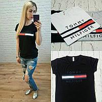 Новинка  женская футболка катон турция черная S M L, фото 1