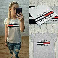 Новинка  женская футболка катон турция серая S M L, фото 1
