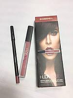 Набор Huda  Beauty (Худа Бьюти) 2в1 помада и карандаш, фото 1