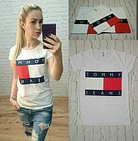 Новинка! женская футболка TOMMY JEANS Турция белая S M L, фото 1