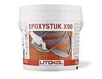 Эпоксидная затирка Epoxystuk X90 С15 серый металик, Литокол 10 кг, фото 1