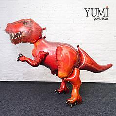 Ходячий шар фигура Динозавр красный