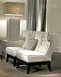 Кресло в стиле арт-деко с ушками ISOTTA фабрика Softhouse, фото 2
