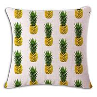 Декоративная наволочка на подушку с ананасиками