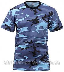 Футболка мужская   камуфляж  Sky Blue Camo T-Shirts поликотон 60/40  ROTCHO  США