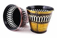 Кашпо Crambe, высота: 10 см, диаметр: 11.5 см, материал: металл, разноцветный, кашпо для цветов, горшочек декоративный