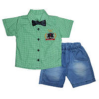 Костюм мальчик х / б + дж 1-4г. (86-104) 508 рубашка + шорты