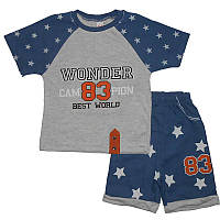 Костюм для мальчика 2-4года(92-104) 09 футболка и шорты