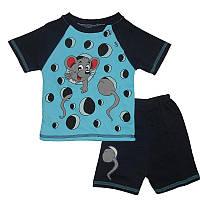 Костюм для мальчика 2-4года(92-104) 06 футболка и шорты