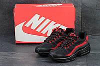 Мужские кроссовки Nike Air Max 95 черные с красным / кроссовки мужские найк аир макс 95