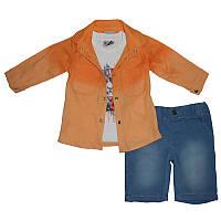 Костюм для мальчика 68-86 арт.216802  3-ка рубашка, футболка и шорты
