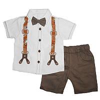 Костюм мальчик х / б + коттон 1-4г. (86-104) 1836 рубашка + шорты