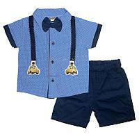 Костюм мальчик х / б + коттон 1-4г. (86-104) 1267 рубашка + шорты