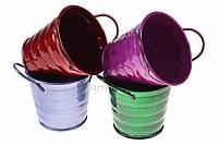 (Цена за 4шт) Кашпо Angophora, высота: 7 см, диаметр: 8 см, материал: металл, разноцветный, кашпо для цветов, горшочек декоративный