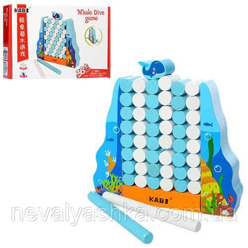 Деревянная игрушка Погружение кита Равновесие, MD 1188, 006982