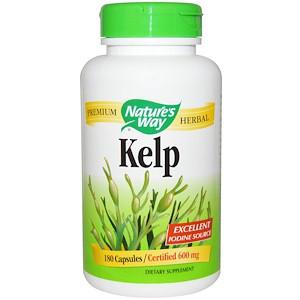 Nature's Way, Ламинария, 600 мг, 180 вегетарианских капсул