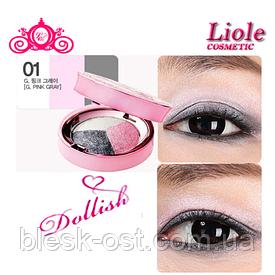 Тени для век розово-серый Lioele Dollish Eyeshadow