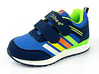 Детские кроссовки Clibee F-675 Синий+Салат (Размеры: 26-31), фото 1