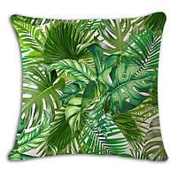 Декоративная наволочка на подушку тропики