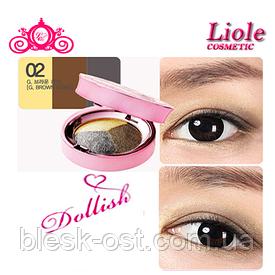Тени для век коричневый хаки Lioele Dollish Eyeshadow