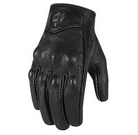 Мотоперчатки Мотоперчатки Pursuit Touch перф. кожа черный L ICON