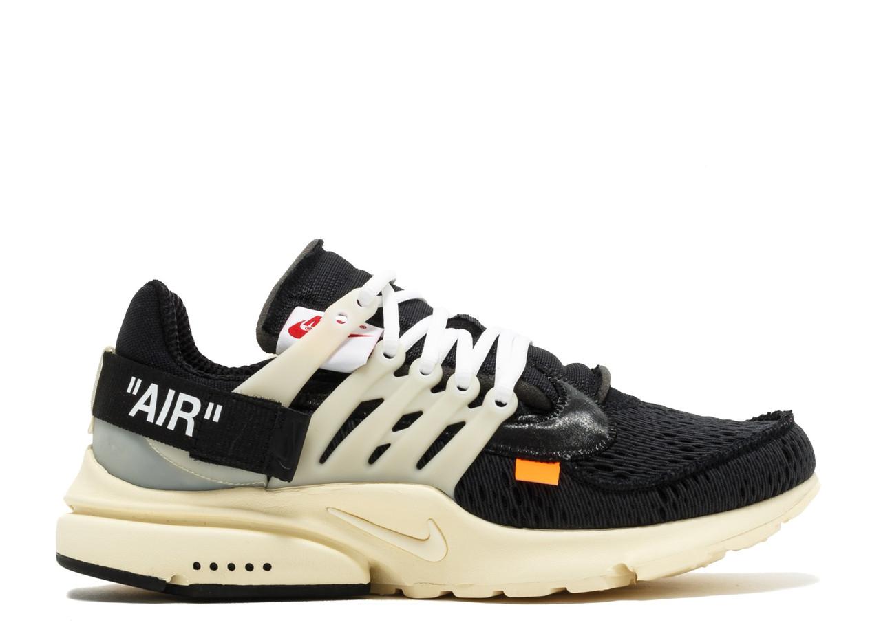 Мужские кроссовки Nike Air Presto (black) OFF White