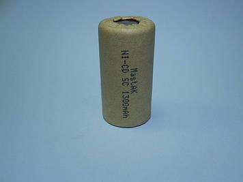 Аккумулятор технический MastAK  Sab-c 1,2v 1300mAh (Ni-Cd)