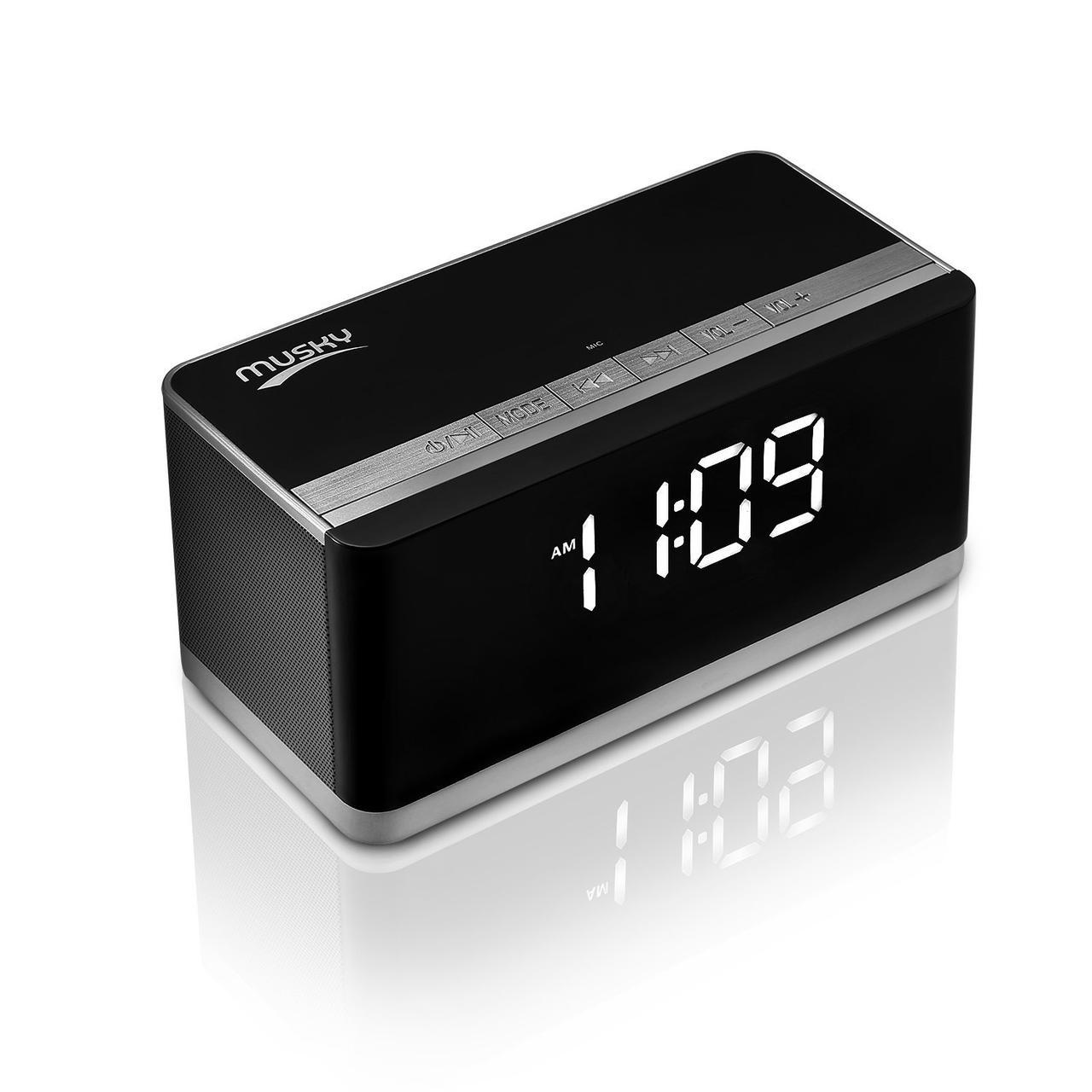 Колонка Musky DY-27L Часы Будильник FM