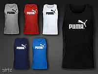 Спортивная  крутая майка мужская приталенная оригинальная пума Puma