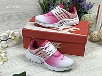 Женские кроссовки Nike Air Presto розовые с белым / кроссовки женские найк аир престо