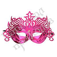 Венецианская маска Изабелла (малиновая)