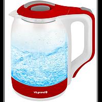 Чайник електричний стекло (1,8 л; 1,8 кВт) ViLgrand VL1818RG_RED