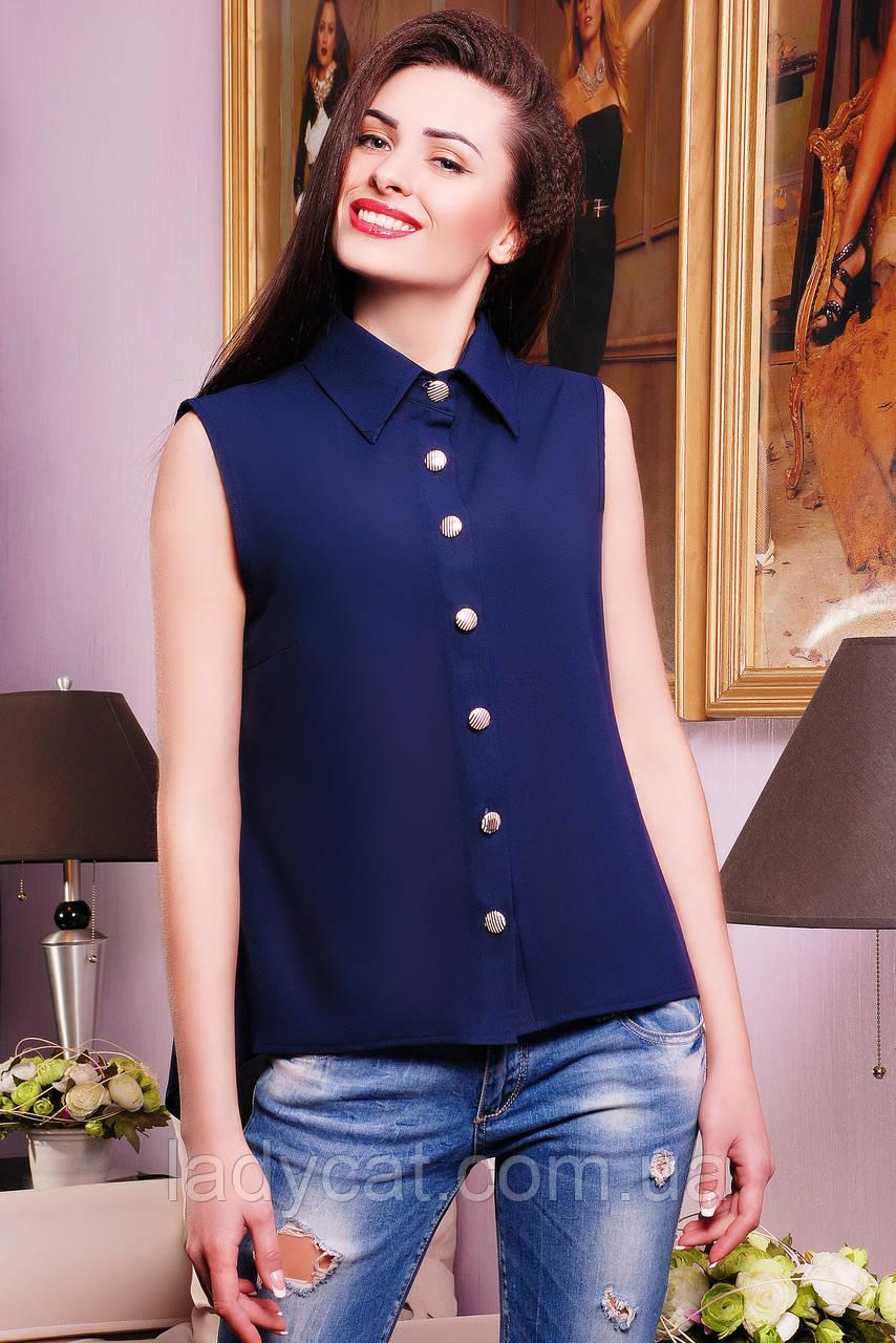 "Рубашка ""Ядвига  ""темно-синий"