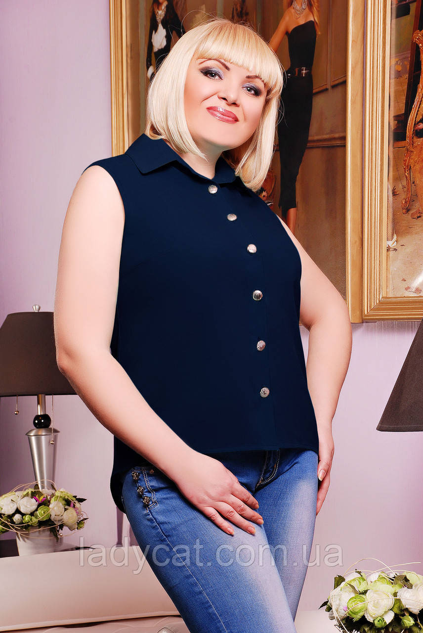 "Рубашка ""Ядвига""темно-синий"