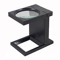 Лупа настольная с LED подсветкой x2.5 TG 9005-B (MG14116-A) 110 мм