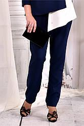 Стильные брюки синие  (идеально в комлекте с блузкой 0565-2) 42-74