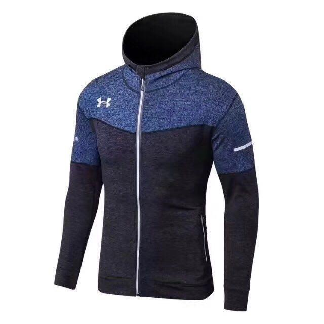 Спортивная кофта Under Armour HeatGear Regular L-13-3 L Черно-синяя (L-13-3)